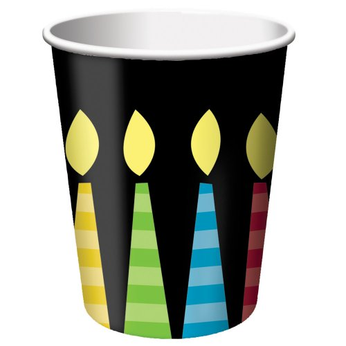 Creative Converting 8 Count Paper Cups, Great Birthday, 9-Ounce