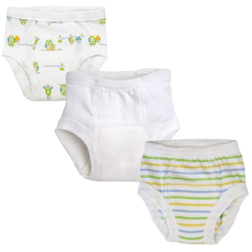 Under The Nile Apparel Training Pants 2 - 4 Years, Owl, White, Sherbert Stripe, 3 Pack front-896292