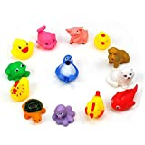 Auch New/Funy Cute Cartoon Animal Style Soft Floating Squeaky Rubber Bath Toys For Baby/Toddler/Kid/Child,Random...