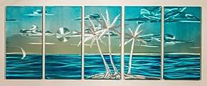 "Abstract Metal Wall Art, Modern Home Decor, ""Tropical Island"""