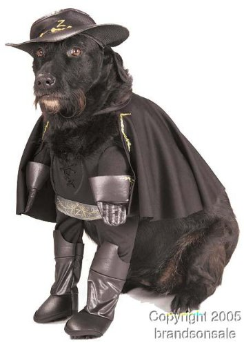 Pet Zorro Dog Halloween Costume For X-large Dogs