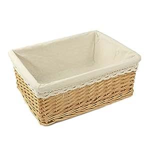 rurality rectangular wicker storage shelf basket with. Black Bedroom Furniture Sets. Home Design Ideas