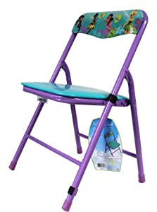 Purple Disney Tinkerbell and Fairies Metal Folding Chair for Kids by Kids Only