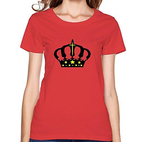 Crown Art Hot Women'S T Shirt X-Large Red