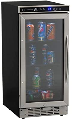 "Avanti BCA-1501SS  Built in Beverage Cooler, 15"", Black"