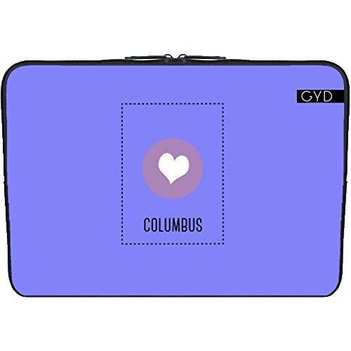 "Coperchio Neoprene Laptop Netbook PC 15.6 ""pollici - Amo Columbus by ilovecotton"