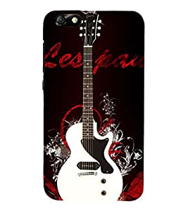White Electronics Guitar 3D Hard Polycarbonate Designer Back Case Cover for Huawei Honor 4X :: Huawei Glory Play 4X