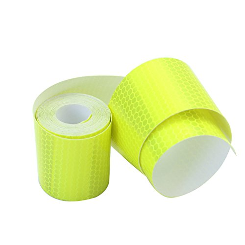 ReFaXi® 3m Fluorescence Yellow Night Reflective Safety Warning Conspicuity Tape Stick (color1) (3m Yellow Tape Automotive compare prices)