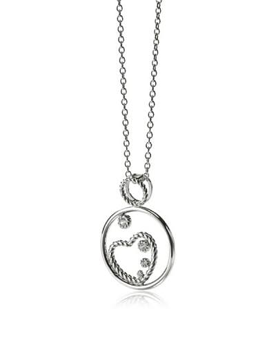 Merii Halskette Silber rhodiniert Zirkonia weiß 45 cm