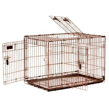 Precision Pet 36 By 23 By 26-Inch 3-Door Great Crate With Lock System And Quiet Links, Size 4000, Copper Hammertone