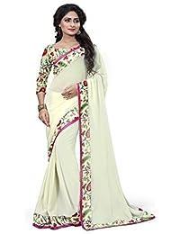 SRP Fashion Selection Chiffon Fancy Lace Border Saree(SRP-Ayesha)
