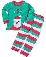 Toddler Kid Boys Girls Christmas pajama T shirt+long pants YSQA7481
