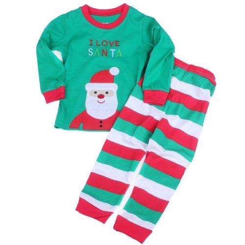 Toddler Kid Boys Girls Christmas Pajama T Shirt+Long Pants Ysqa7481 Size T2