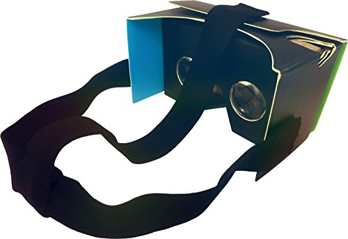 """Nfōld Google Cardboard Inspired V2 Virtual Reality Headset Kit + Head Strap - Version 2.0 VR 3D Glasses - Fits Smartphones up to 6"""" Screen Size - Compatible with iPhone and Android Devices"""
