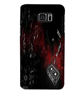 Fuson 3D Printed Music Designer back case cover for Samsung Galaxy Note 5 - D4543
