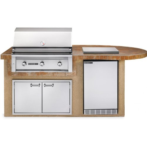Sedona By Lynx Deluxe BBQ Island With 36-Inch Natural Gas Grill With Rotisserie - Sandalwood