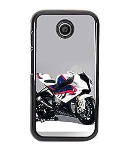 Crazymonk Premium Digital Printed Back Cover For Moto E