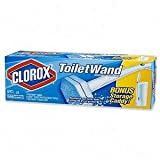 Clorox 03191 Toilet Wand Disposable Toilet Cleaning Starter Kit with Handle, 6 Pads and Caddy