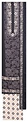 Mahek Fashion Women's Silk Unstitched Dress Material (Black and Off-White)