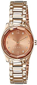 Esprit Damen-Armbanduhr XS Crystal Cut Rose Analog Quarz ES106552006