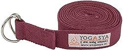 Yogasya - Yoga Belt - 8 Feet Length - Yoga Props - For Safe, Perfect & Challenging Yoga Posture - Maroon
