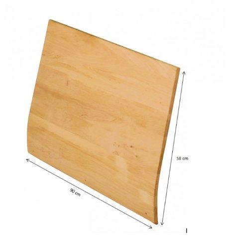 Dossier pour Dario lit de 90 cm, Alderwood biologique