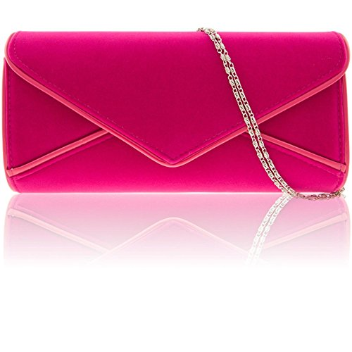 Zarla Ladies Large Faux Suede Designer Clutch Women Bridal Envelope Evening Handbag UK