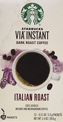 Starbucks VIA Ready Brew Italian Roast Coffee 1.4oz 12 Single Serve Packets