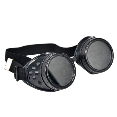 Ucspai-Cyber-Goggles-Steampunk-Welding-Goth-Cosplay-Vintage-Goggles-Rustic-Black