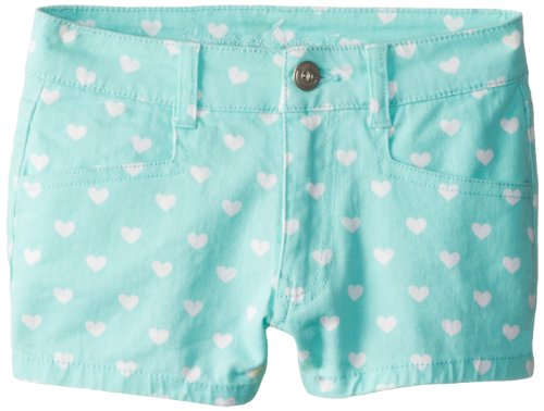 Freestyle Revolution Big Girls' Printed Shorts, Seafoam Hearts, 10 front-513815