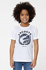 Boy's Short Sleeve Lacoste And Croc Graphic T-Shirt