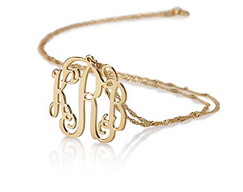 14k-Gold-Monogram-Necklace-Personalized-Name-Necklace-Initial-Necklace-16-Inches