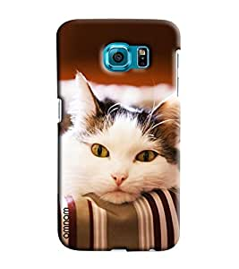 Omnam Cat Feeling Sad Printed Designer Back Cover Case For Samsung Galaxy S7