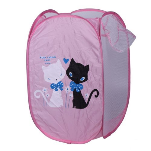 eozy-cute-cartoon-cats-foldable-pop-up-mesh-washing-laundry-basket-bag-bin-hamper-toy-tidy-storage-b