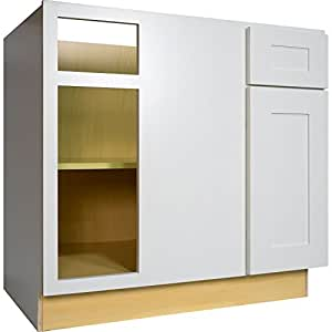 Everyday cabinets 42 inch blind corner base for Amazon kitchen cabinets