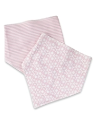 2 Pack Pure Cotton Doll Dribble Bibs