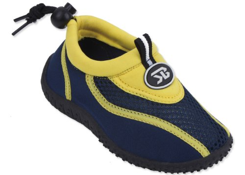 New Starbay Brand Kid'S Yellow & Navy Athletic Water Shoes Aqua Socks Size 13 front-914758