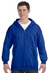 Hanes Ultimate Cotton Full-Zip Fleece Hood 10 oz # F280,XX-Large,Deep Royal
