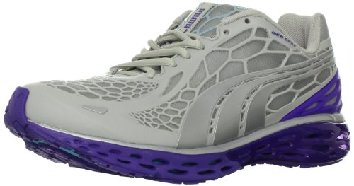 PUMA Women's BioWeb Elite Running Shoe,Gray/Liberty/Blue Curacao,9 B US
