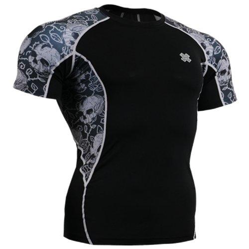 Fixgear Mens Womens Compression Spandex Tight Baselayer Running Shirts S ~ 2XL