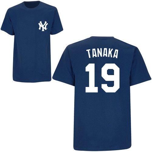 MLB公式 ニューヨーク ヤンキース 田中将大 19 ジュニア NY Tシャツ ユニフォーム柄 by Majestic Athletic