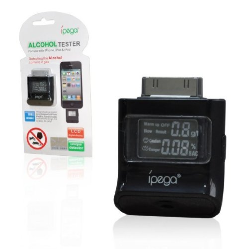 Digital Alcohol Tester Analyzer Detector LCD Breath Alcohol Analyser Tester Breathalyser For iPad 2 3 iPod iPhone 4 4S/5GS