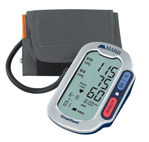 Cheap MABIS SmartRead Plus Automatic Digital Blood Pressure Monitor with WHO and Jumbo Display, Grey (04-352-001)