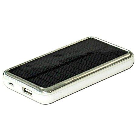 ソーラー充電器【Solar+Charger(ソーラーチャージャー)】大容量3500mAh%2FiPhone、iPhone5C+iPhone5S、スマホ、各種携帯、ゲーム機対応【ホワイト】