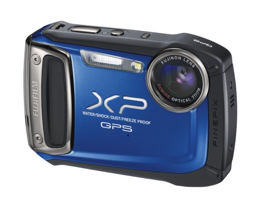 Fujifilm FinePix XP150 Digital Waterproof Camera - Blue (14MP CMOS, 5x Optical Zoom) 2.7 inch LCD Screen with GPS