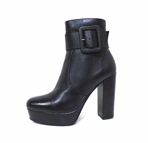 Scarpe donna tronchetto n° 38 pelle nero aderente alla caviglia e tacco alto con plateau Bruno Premi 5303G