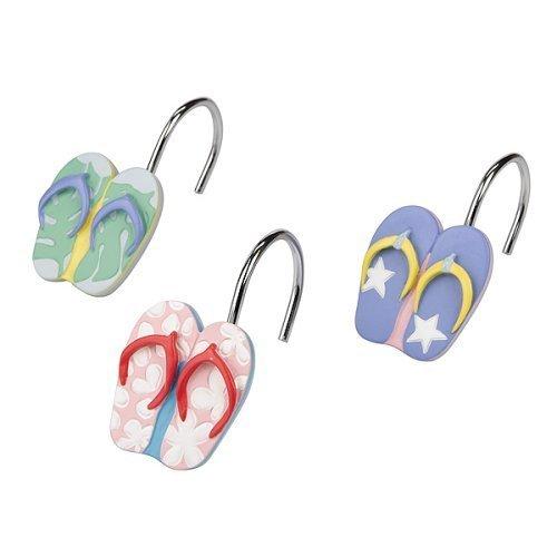Flip Flops Shower Curtain Hooks – set of 12 « Fabric Shower Cutains ...