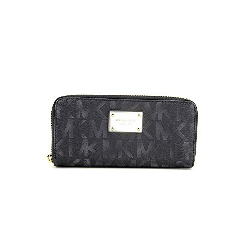 Michael Kors Black Pvc Continental Wallet