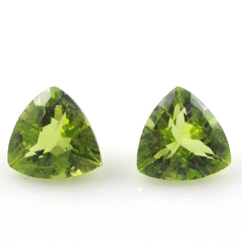 Natural Peridot Aaa Quality Loose Gemstone 4 Mm Faceted Trillion 10 Pieces Lot front-1079545