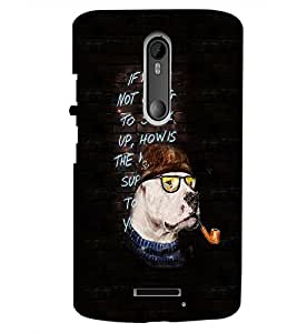 PrintDhaba Quote D-2498 Back Case Cover for MOTOROLA MOTO X3 (Multi-Coloured)